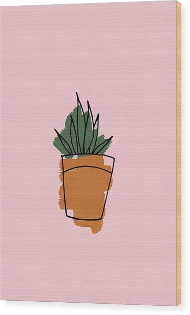 Series Pink 009 Wood Print