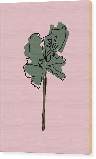 Series Pink 12 Wood Print