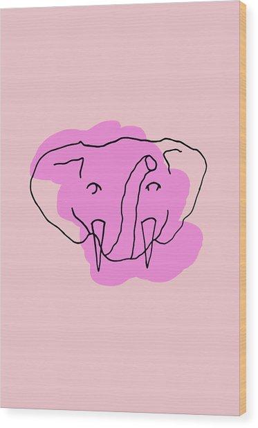 Series Pink 15 Wood Print