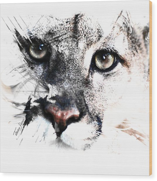 Seriously Cougar Wood Print