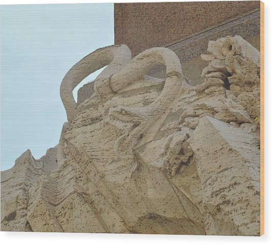 Serpent On The Fountain Wood Print by JAMART Photography