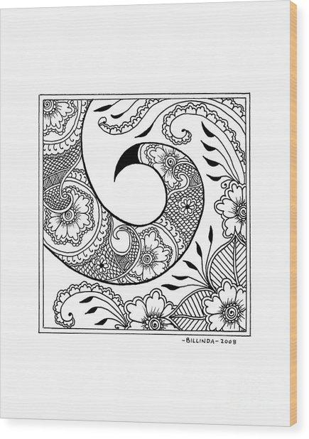 Serpent's Tail Wood Print