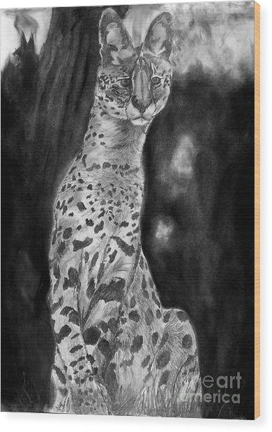 Servile Wood Print