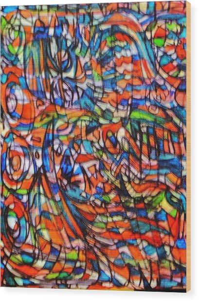 Sesame Street Wood Print by Gayland Morris