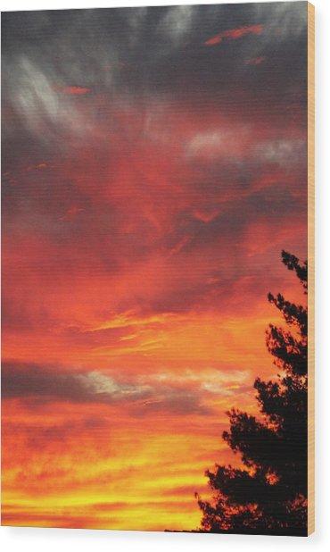 Desert Sunburst Wood Print
