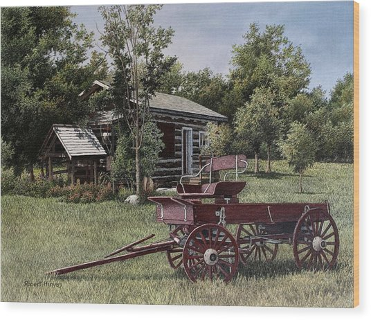 Settlers Village Bobcaygeon Wood Print