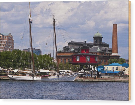 Seven Foot Knoll Lighthouse - Baltimore Wood Print
