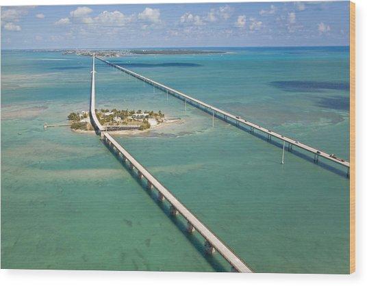 Seven Mile Bridge Crossing Pigeon Key Wood Print