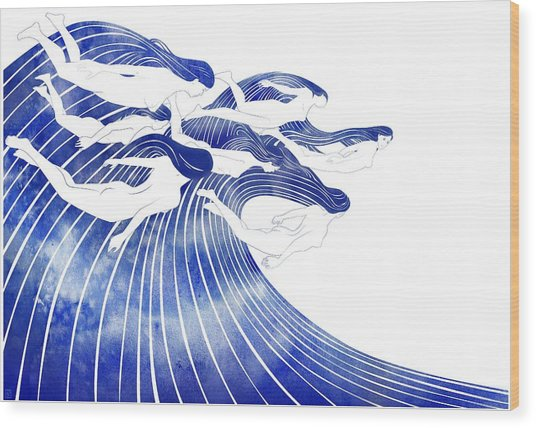Seven Nereids Wood Print