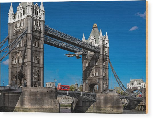 Seven Seconds - The Tower Bridge Hawker Hunter Incident  Wood Print