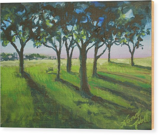 Seven Trees Wood Print by Michele Hollister - for Nancy Asbell