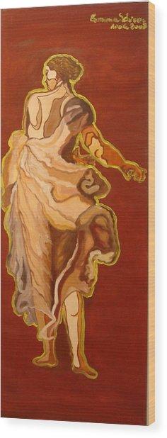 Seventeenth Portrait Wood Print by Erminia Schirru