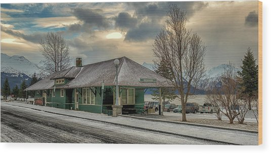 Seward Alaska 2017 Wood Print