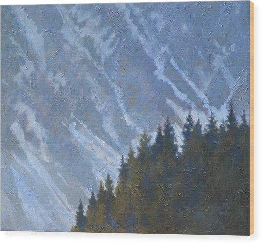 Seward Mountain Wood Print by Robert Bissett