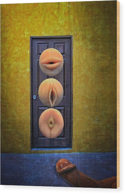 Wood Print featuring the photograph Sex Toys by Harry Spitz