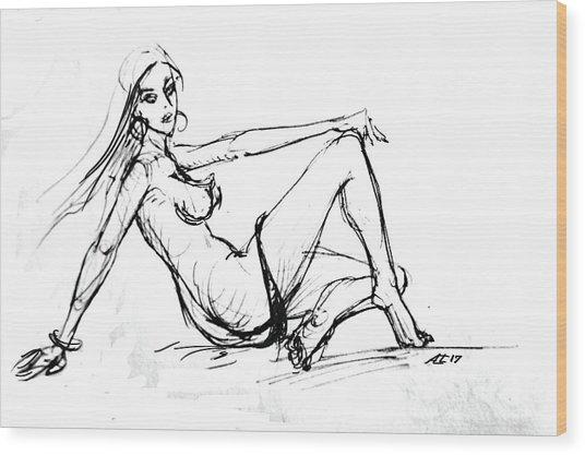 Sexy Girl Wood Print