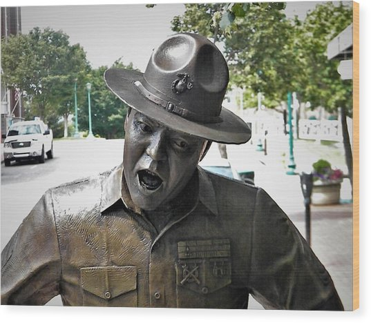 Sgt. Carter Statue In Clarksville, Tn Wood Print