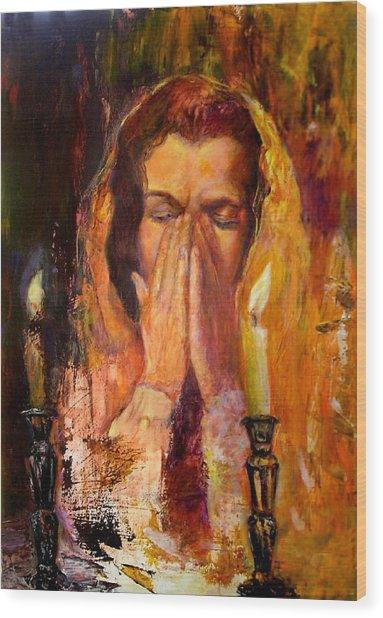 Shabbat's Pray Wood Print