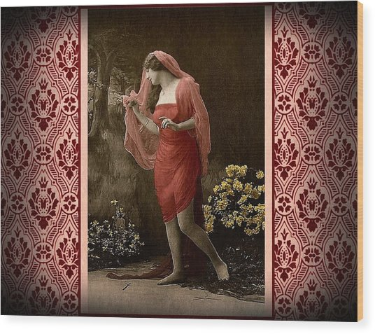 Shabby Chic Vintage Diva Wood Print