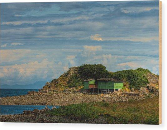 Shack Island Wood Print by R J Ruppenthal
