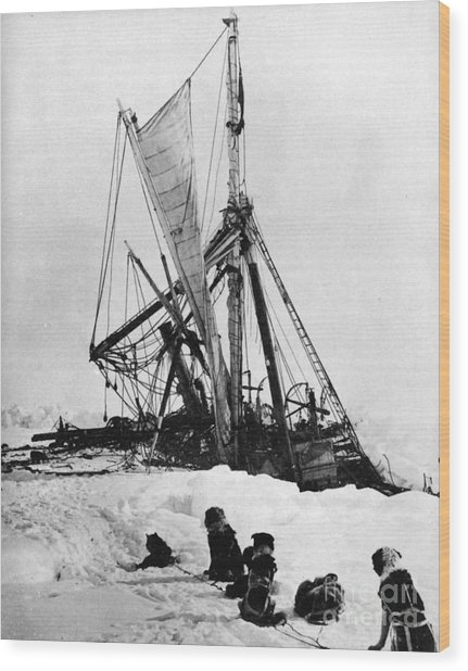 Shackletons Endurance Wood Print