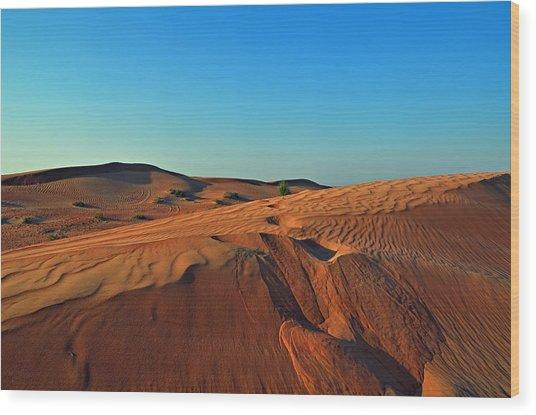 Shades Of Sand Wood Print