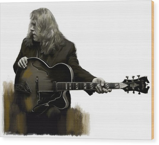 Shades Of Tone Iv Warren Haynes  Wood Print