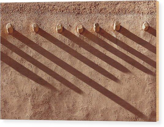 Shadow Beams Wood Print
