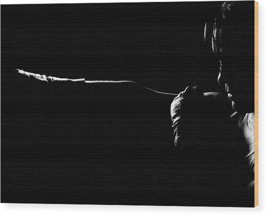 Shadow Boxing Wood Print