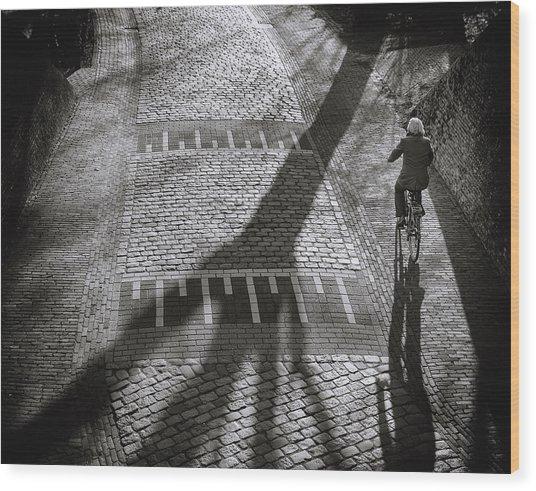 Shadow Wood Print by Henk Van Maastricht