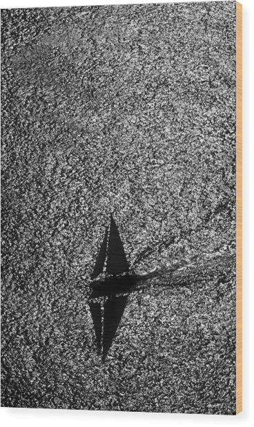 Shadow Of Mine  Wood Print