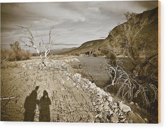 Shadows Lurking Wood Print by Keith Sanders