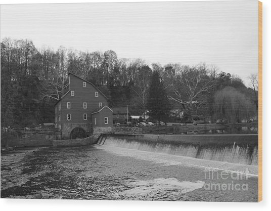 Shadows On The Mill In Clinton Wood Print