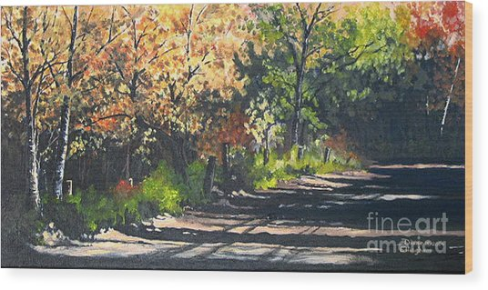 Shady Lane Wood Print