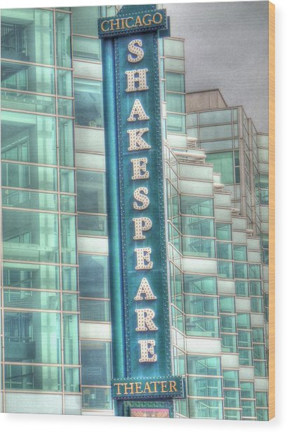 Shakespeare Theater Wood Print