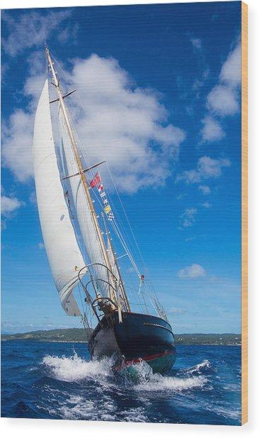 Shalamar Classic Sailboat #2 Wood Print by Karl Alexander