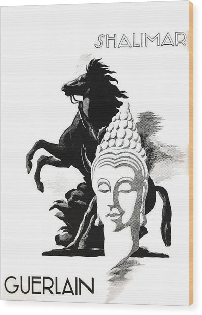 Wood Print featuring the digital art Shalimar by ReInVintaged