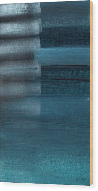 Shallow- Abstract Art By Linda Woods Wood Print