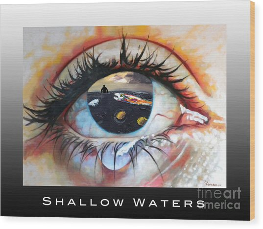 Shallow Waters  Wood Print
