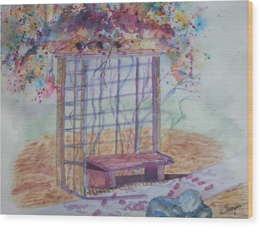 Shalom Rose Arbor Wood Print by Warren Thompson