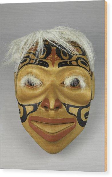 Shaman's Mask Wood Print