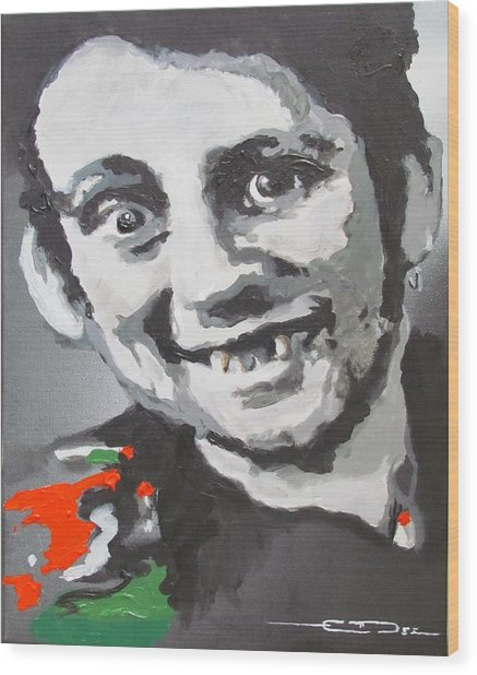Shane Macgowan Fairytale Of New York Wood Print