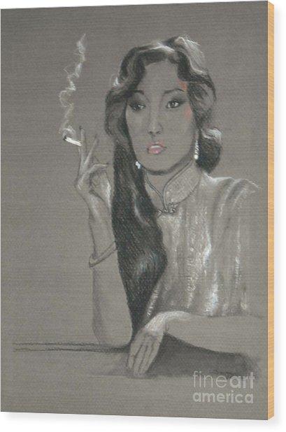 Gong Li -- Chinese Film Star Wood Print