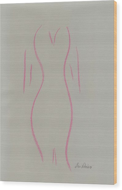 Shape Of A Woman Wood Print