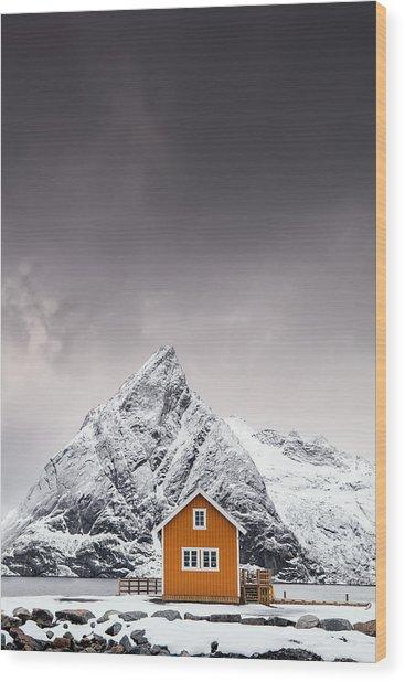 Shapes Of Lofoten Wood Print
