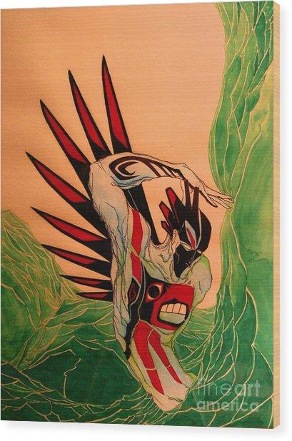 Shapeshifter Wood Print by Stefan Johnson