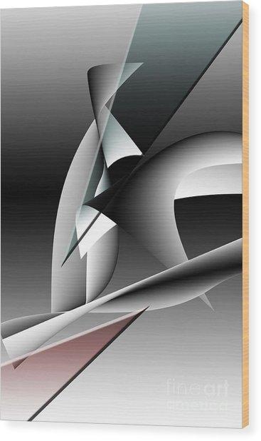 Shards Wood Print