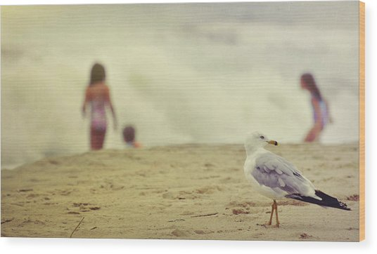 Share The Beach  Wood Print by JAMART Photography