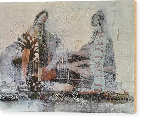 Shared Past Wood Print