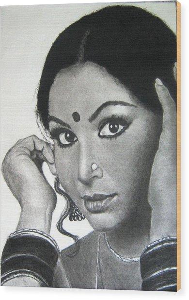 Sharmila Tagore Wood Print
